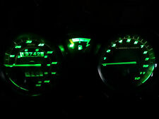 GREEN YAMAHA YBR125 led dash clock conversion kit lightenUPgrade