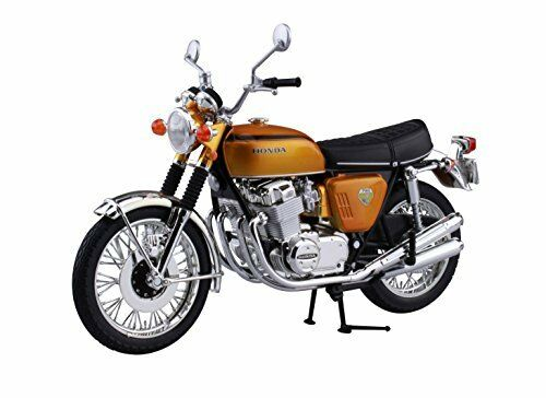 AOSHIMA SKYNET 04309 HONDA CB750FOUR (K0) CANDY gold 1 12 SCALE FINISHED MODEL