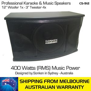 SONKEN-CS-912-KARAOKE-PASSIVE-SPEAKERS-PAIR-800-WATTS-400-WATTS-x2