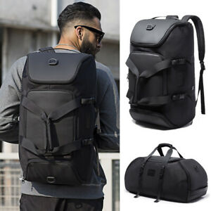 Water-Resistant-Convertible-Backpack-Duffle-Travel-Weekend-Hiking-Gym-Carry-bag