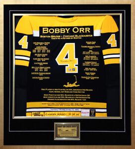 Bobby Orr Elite Edition Career Jersey - Autographed - Ltd Ed 44 - Boston Bruins