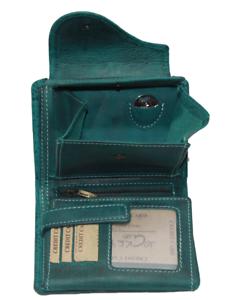 Damen Geldbörse Naturleder Rustikal Rindleder RFID / NFC Geldbeutel Portmonai