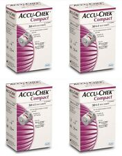 Accu Chek COMPACT Blood Glucose ROCHE x 4 boxes 204Test Strips Apr - 2018