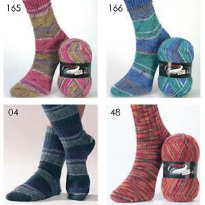 100g-Austermann-Step-4-fach-034-diverse-Farben-034-Sockenwolle-Schoeller-Stahl