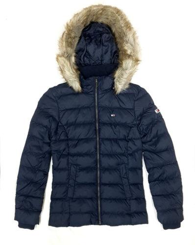 Tommy Jeans Daunenjacke Essential Hooded Damen Winter Jacke Jacket Black Iris