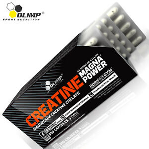 Creatina-MAGNA-POWER-30-180-CAPSULE-di-Magnesio-Creatina-Anabolizzanti-Muscle-Builder