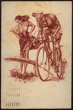 cartolina 7 SETTE-TRAGUARDO DI MONTANA-CICLISMO BICICLETTA ciriello