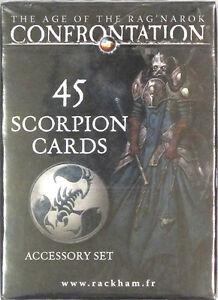 Confrontation 45 Scorpion Cards Accessory Set NEW!