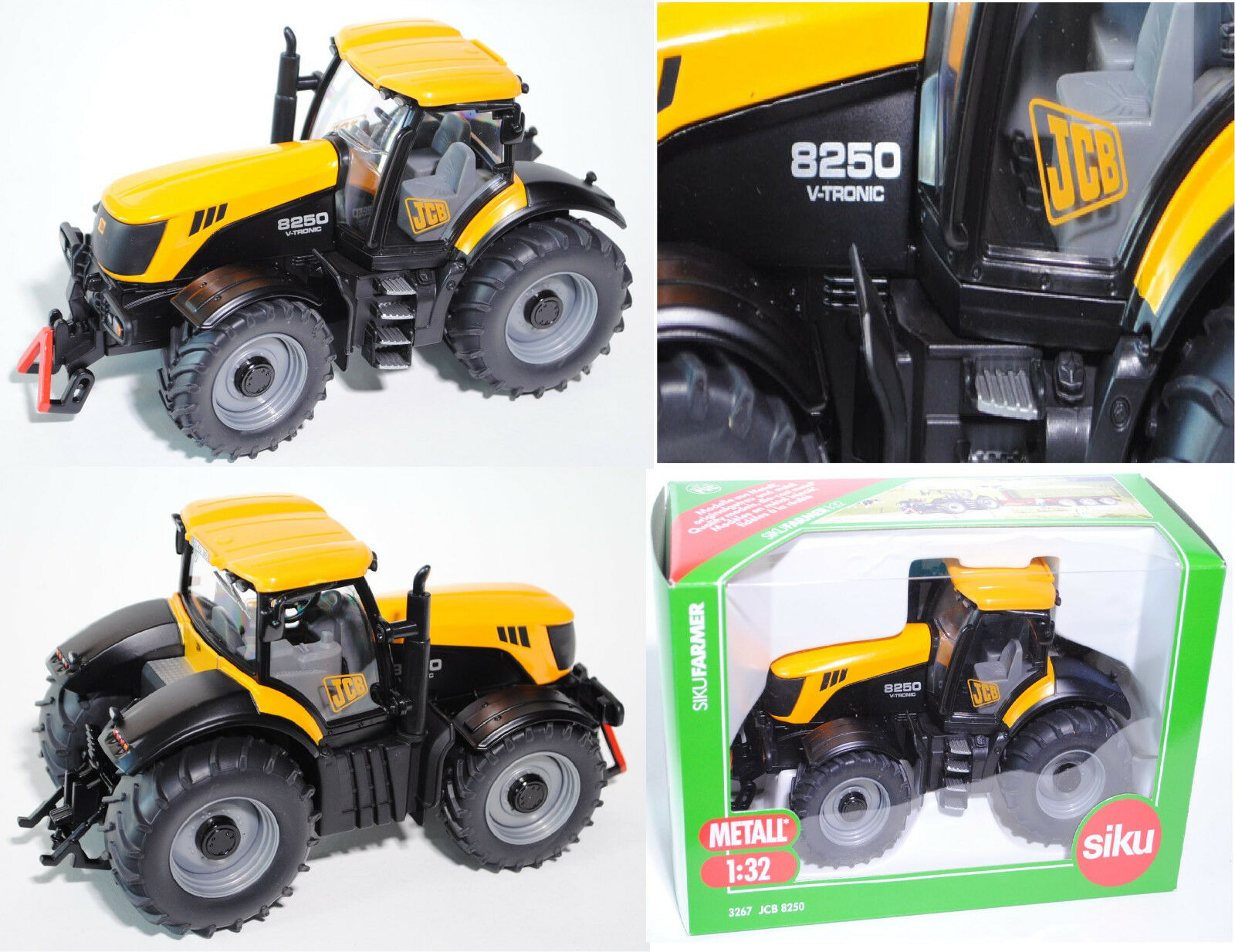 Vuelta de 10 dias Siku Farmer Farmer Farmer 3267 jcb 8250 V-tronic, 1 32  barato y de alta calidad