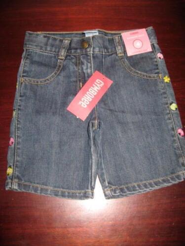 New Gymboree denim bermuda shorts girls 4 adjustable waist