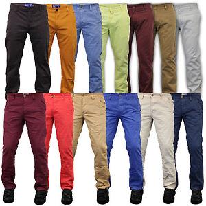 Mens-Chino-Jeans-Kushiro-City-Jack-South-Pants-Straight-Leg-Trousers-Bottoms-New