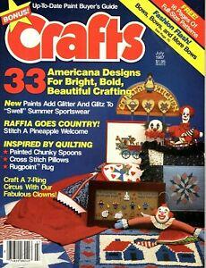 Crafts Magazine July 1987 - Crochet, Cross Stitch, Painting, Rug Making, Clowns