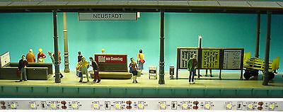 1 m LED Bahnsteigbeleuchtung  warmweiss Bahnsteig Beleuchtung Hausbeleuchtung