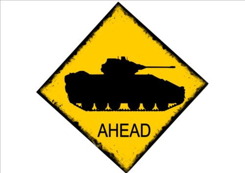 Tank Crossing Australien Style Panneau routier reproduction style vintage panneau routier