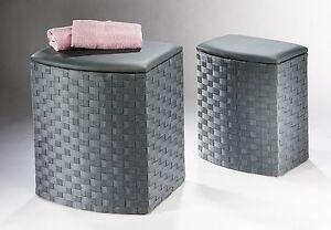 w schekorb mit sitzpolster in ver gr en w schetruhe. Black Bedroom Furniture Sets. Home Design Ideas