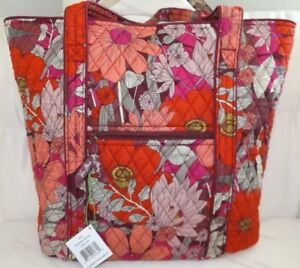 Details About Vera Bradley Zippered Large Tote Bag Bohemian Blooms New With Tag