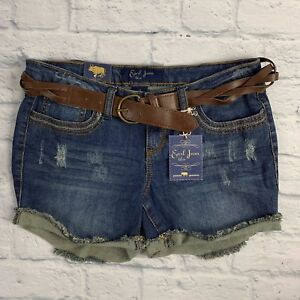 2a00580bde3 Image is loading NWT-EARL-JEAN-WOMENS-BLUE-DENIM-SHORTS-WITH-