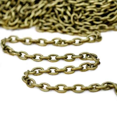 4M Chaîne de câbles Chaînes inachevées Laiton Antique 3.7x2.55x0.7mm CH0117-4