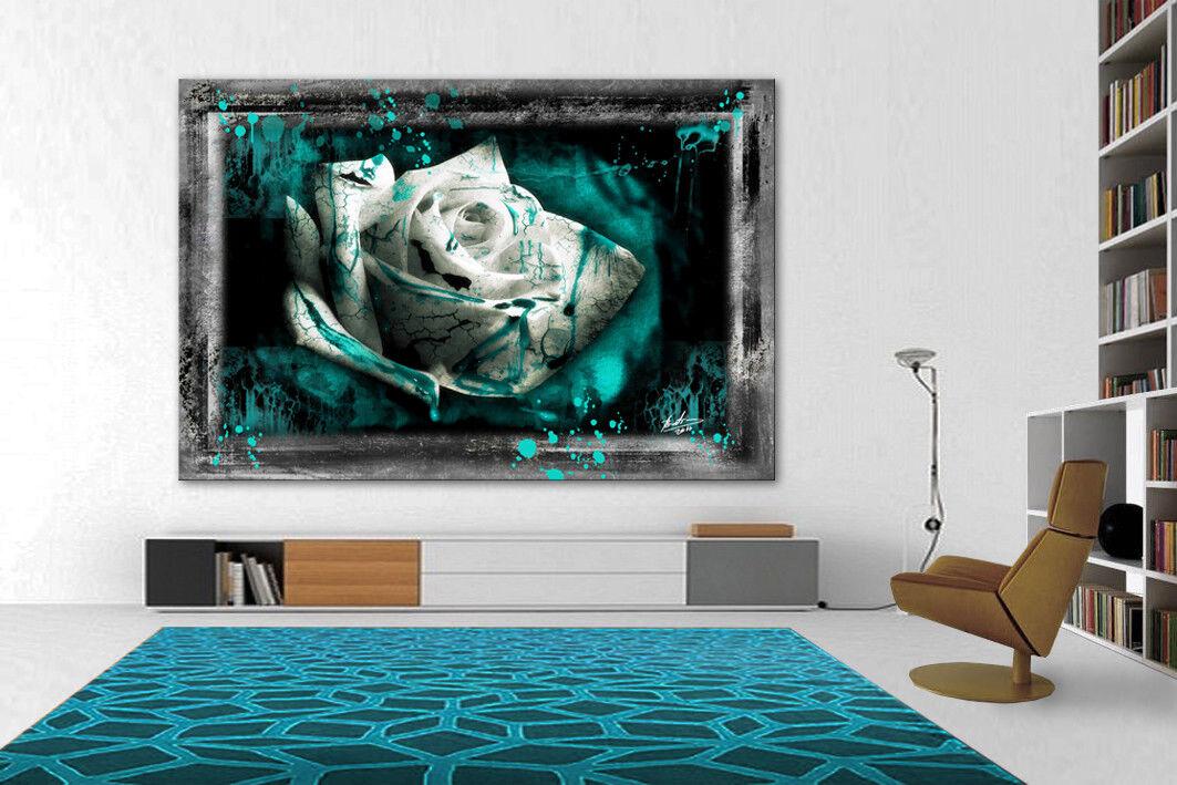 Fleurs Abstrait Rose Images sur art toile la fresque art art sur pression 1958 A 64cb15