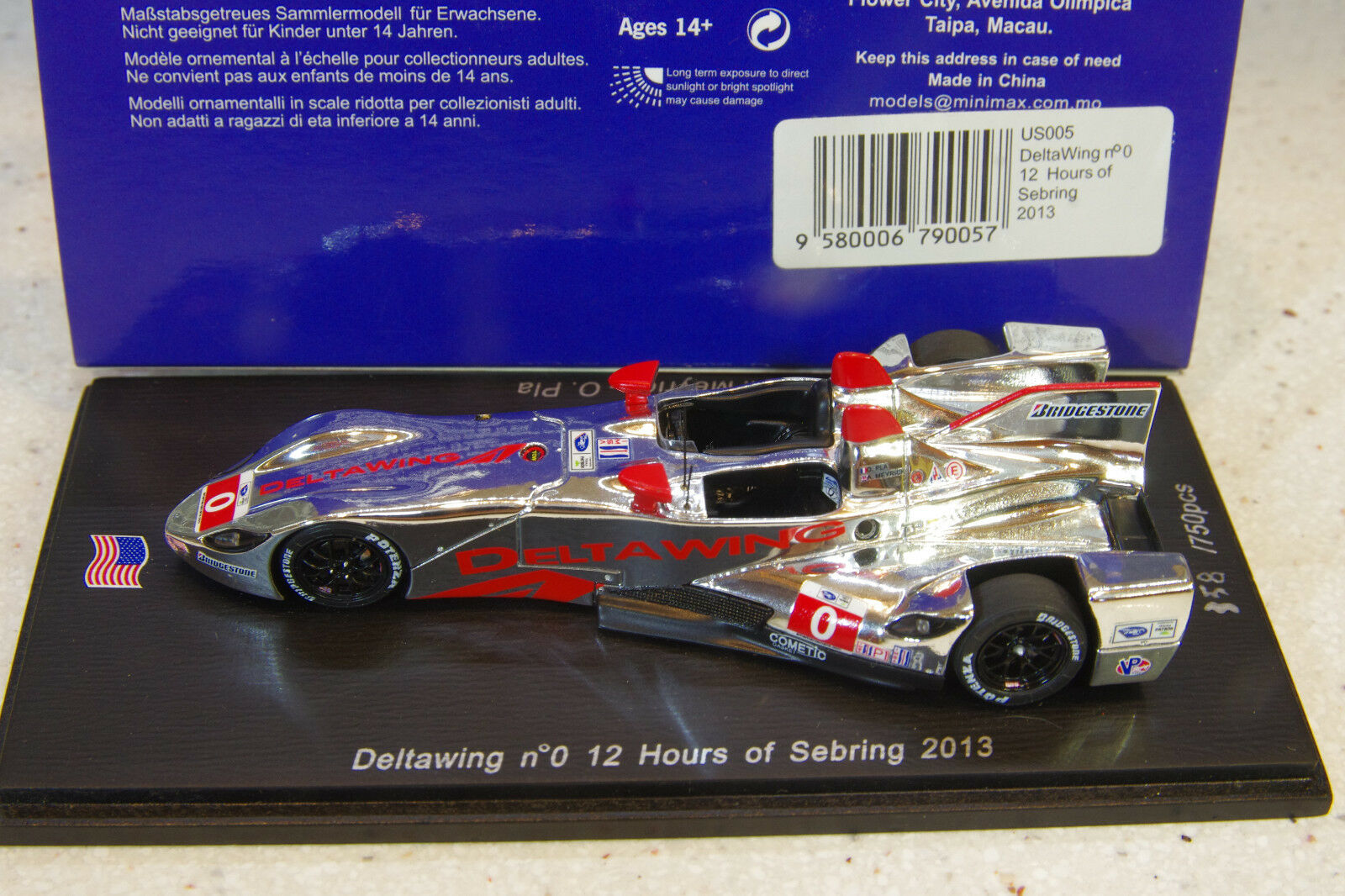 Spark 1 43 2013 2013 2013 Deltawing Hours of Sebring 358 750 pieces Ltd Ed US005 6ded8c