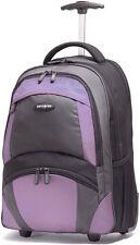"Samsonite 19"" Wheeled Backpack Laptop Carry On Luggage - Black / Bordeaux"