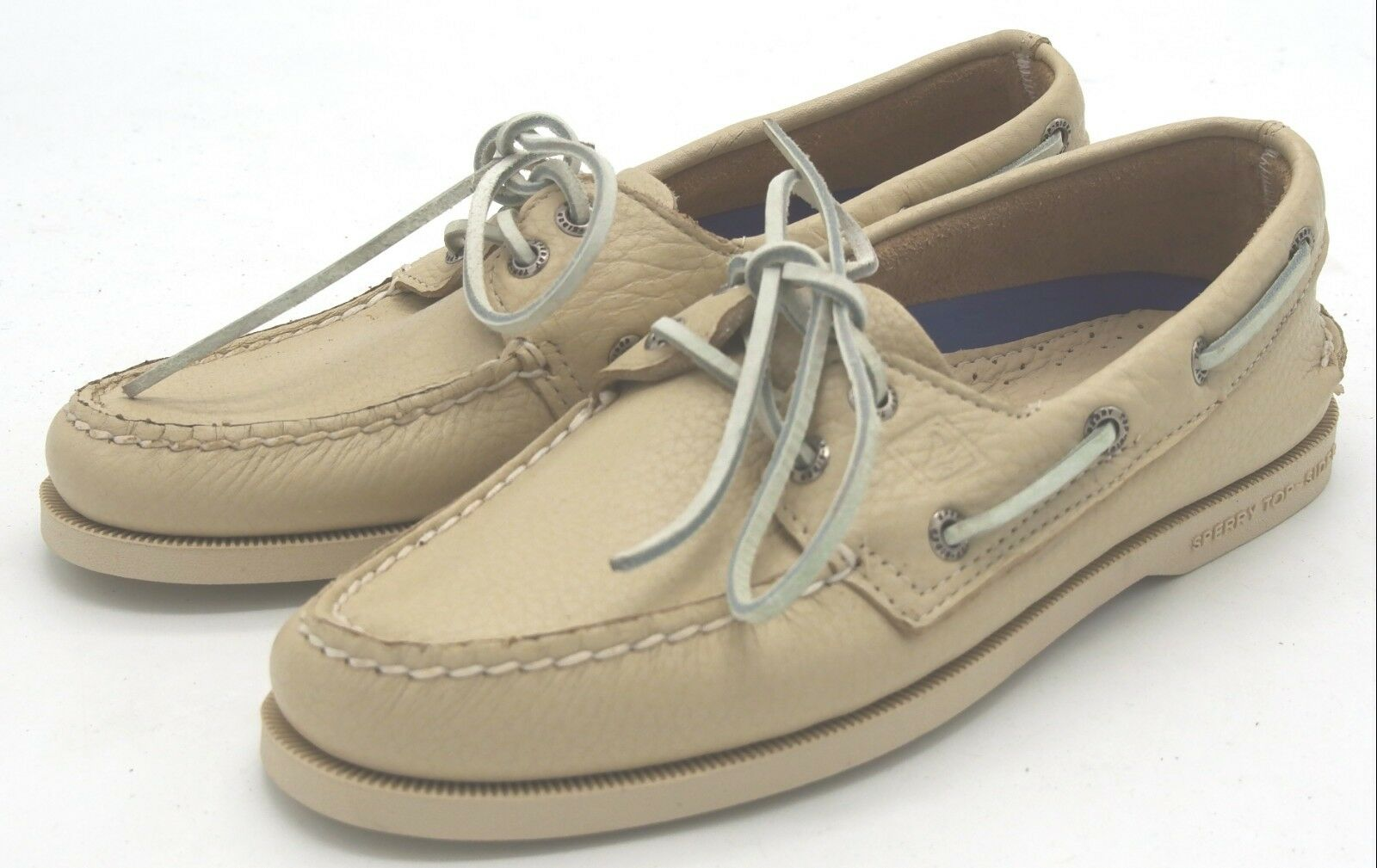 J6799 New Men's Sperry Top Sider 2 Eye Boat shoes White 16 M