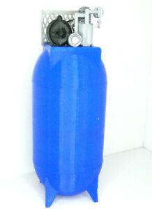 RC-1-10-Scale-Air-Compressor-BLUE-Vertical-Shop-Garage-Crawler-Doll-Accessories