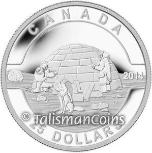 """The Igloo/"""" 2014 Canada Silver $25 /""""O Canada"""