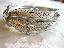UNIQUE SILVER TONED RIBBON BOW VINTAGE SWISS CLAMP BRACELET WATCH MAWI D.O.