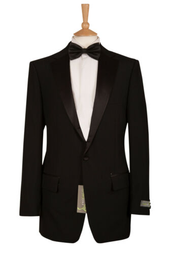 £25 EX HIRE MENS BOYS BLACK JAMES BOND TUXEDO STUDENT TUX PROM DJ BLAZER JACKET