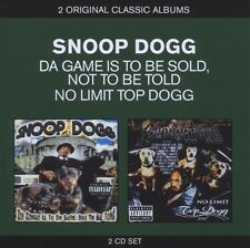 "SNOOP DOGG ""CLASSIC ALBUMS: THE GAME IS TO BE SOLD.../TOP DOGG(2IN1)"" 2 CD NEU"