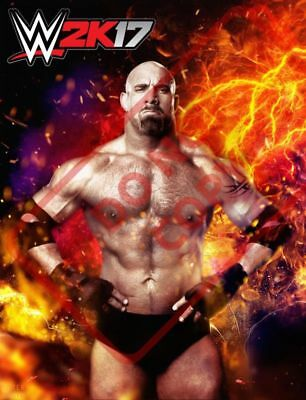 GOLDBERG Wall Sticker Removable Vinyl Quote Decal Bedroom Canvas WWE WWF