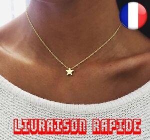 Collier-Chaine-Etoile-Or-Argent-Tour-De-Cou-Femme-Bijoux-Fille-Idee-Cadeau-Mode