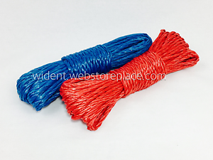 2Pk 50FT Plastic Clothes Line Household Outdoor Laundry Rope String Blue Red