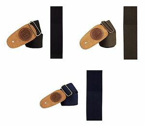 Folk-Classic-Jazz-Cotton-Acoustic-Electric-Bass-Guitar-Strap-Suede-Leather-Head