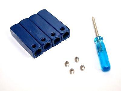 """1 Set /""""4 pcs/"""" DIY Metal shoe laces Aglets tips For Replacement Blue"""