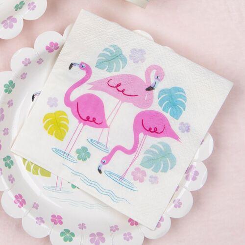 REX London Lot de 20 Flamingo Bay cocktail serviettes