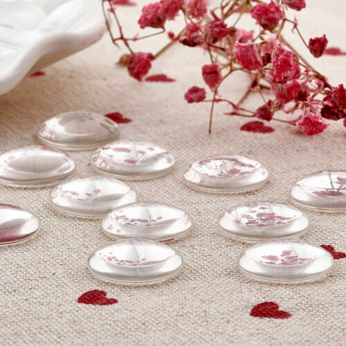 100//200pcs Flatback Transparent Clear Glass Domed Cabochons Cover Findings Round