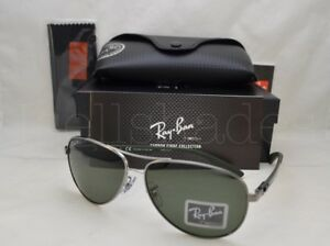 40e5e697db Ray Ban CARBON FIBRE (RB8313-004 N5 61) Gunmetal with Green Ar ...