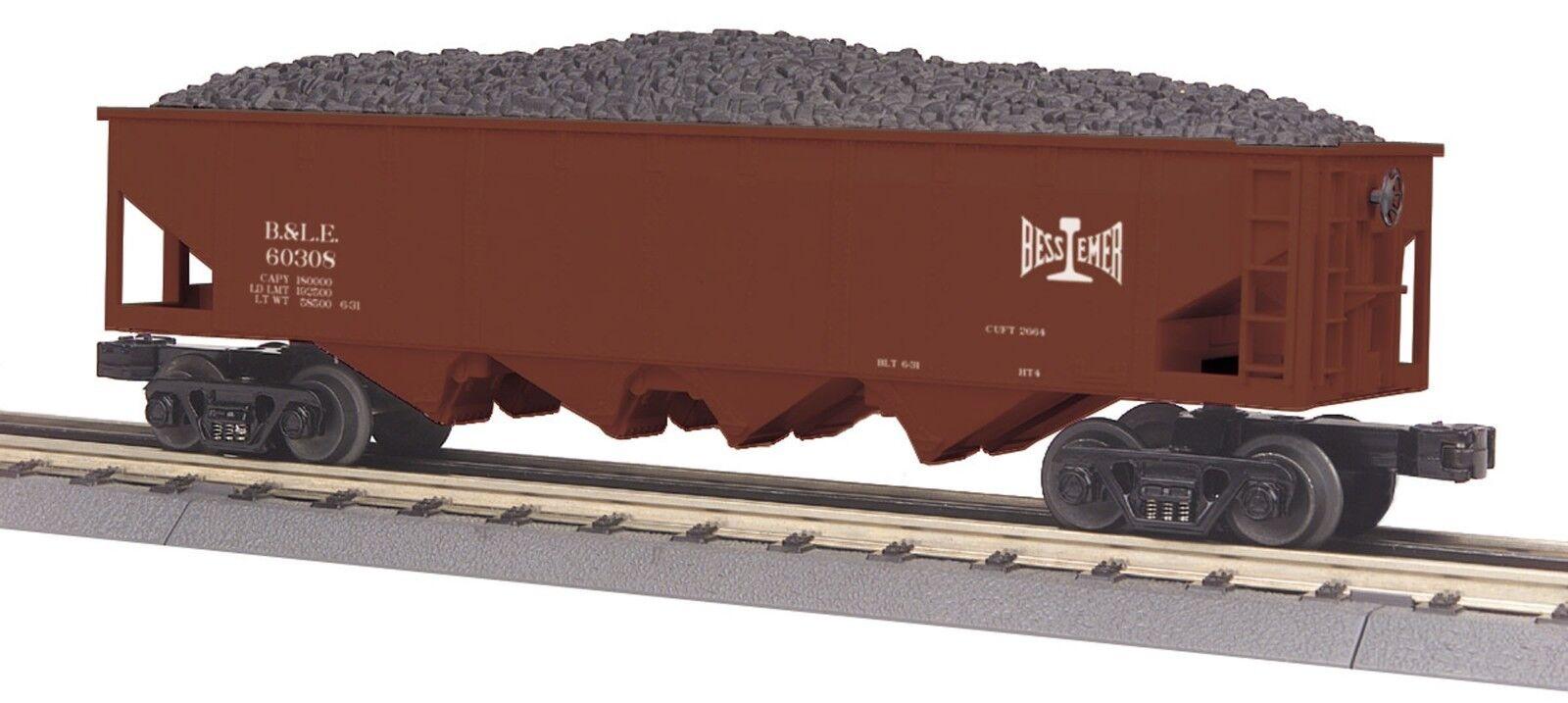 30-75341 Bessemer & Lake Erie 4-Bay Hopper Car w  Coal Load MTH (Used)