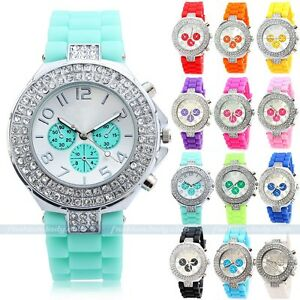 Fashion-Bling-Crystal-Ladies-Women-Girl-Jelly-Silicone-Analog-Quartz-Wrist-Watch