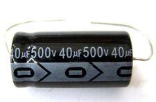 QTY 5 New MIEC 40UF 500V 105C Axial Electrolytic Capacitors