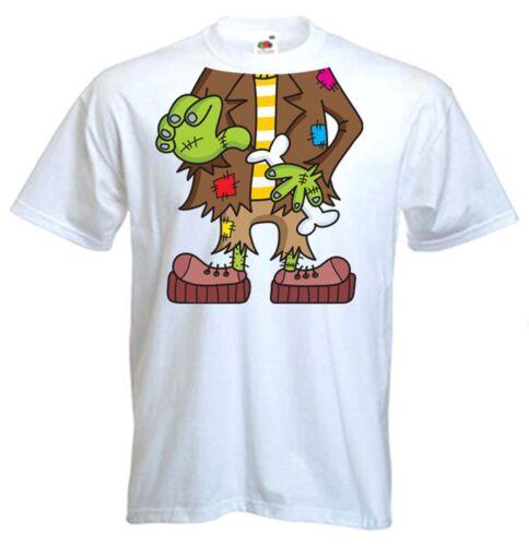 Costume Frankenstein Da Uomo T-shirt addio al celibato fare Notte Costume Outfit