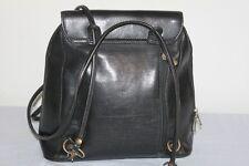 Sac à main  cuir noir esprit vintage Porté sac à dos possible