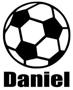 Personalised Name Football Wall Art Boys Kids Bedroom Custom Vinyl Sticker Ebay
