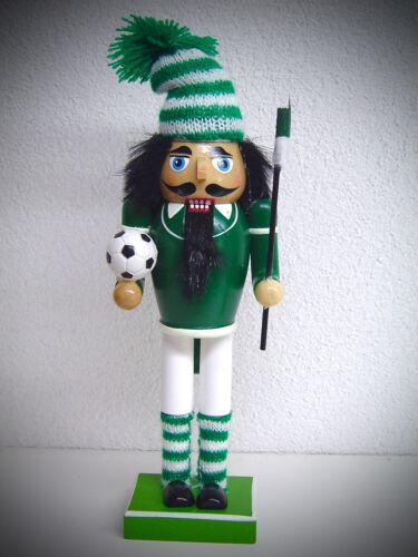 25 cm cascanueces nußknacker Nutcracker fútbol kicker verde blanco 30154