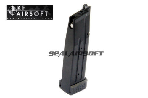 Kung Fu Airsoft Juguete CNC Aluminio Revista Con Base Para TM serie Hi-Capa (Negro)