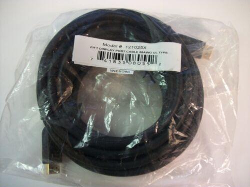 Vanco 121025X 25/' Ft Foot DisplayPort Display Port Cable