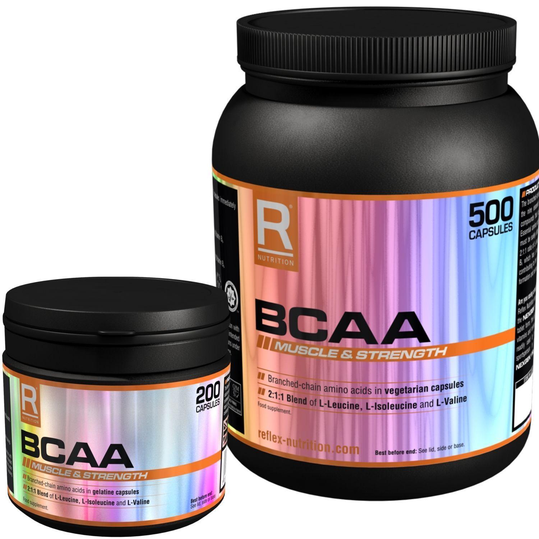 Reflex Nutrition Bcaa 200 500 Kapseln Verzweigtkettige Aminosäuren
