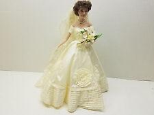 Franklin Mint Heirloom Jacqueline Kennedy Wedding Bride Porcelain Doll #C8772